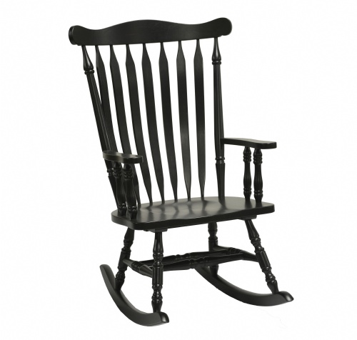 Antique Style Rocker- Black
