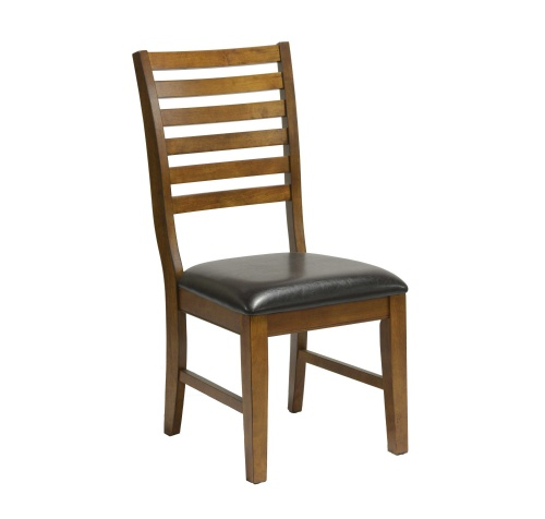 St.Michael Ladder Back Side Chair w/Vinyl Seat